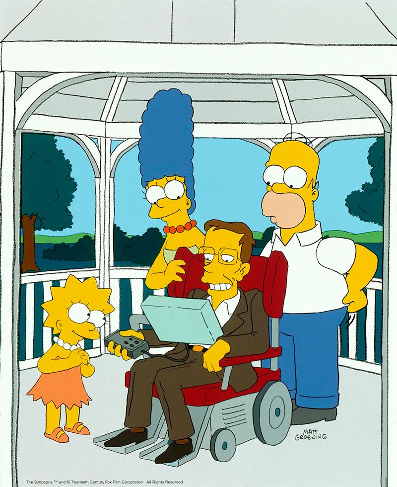 Hawking em Simpsons