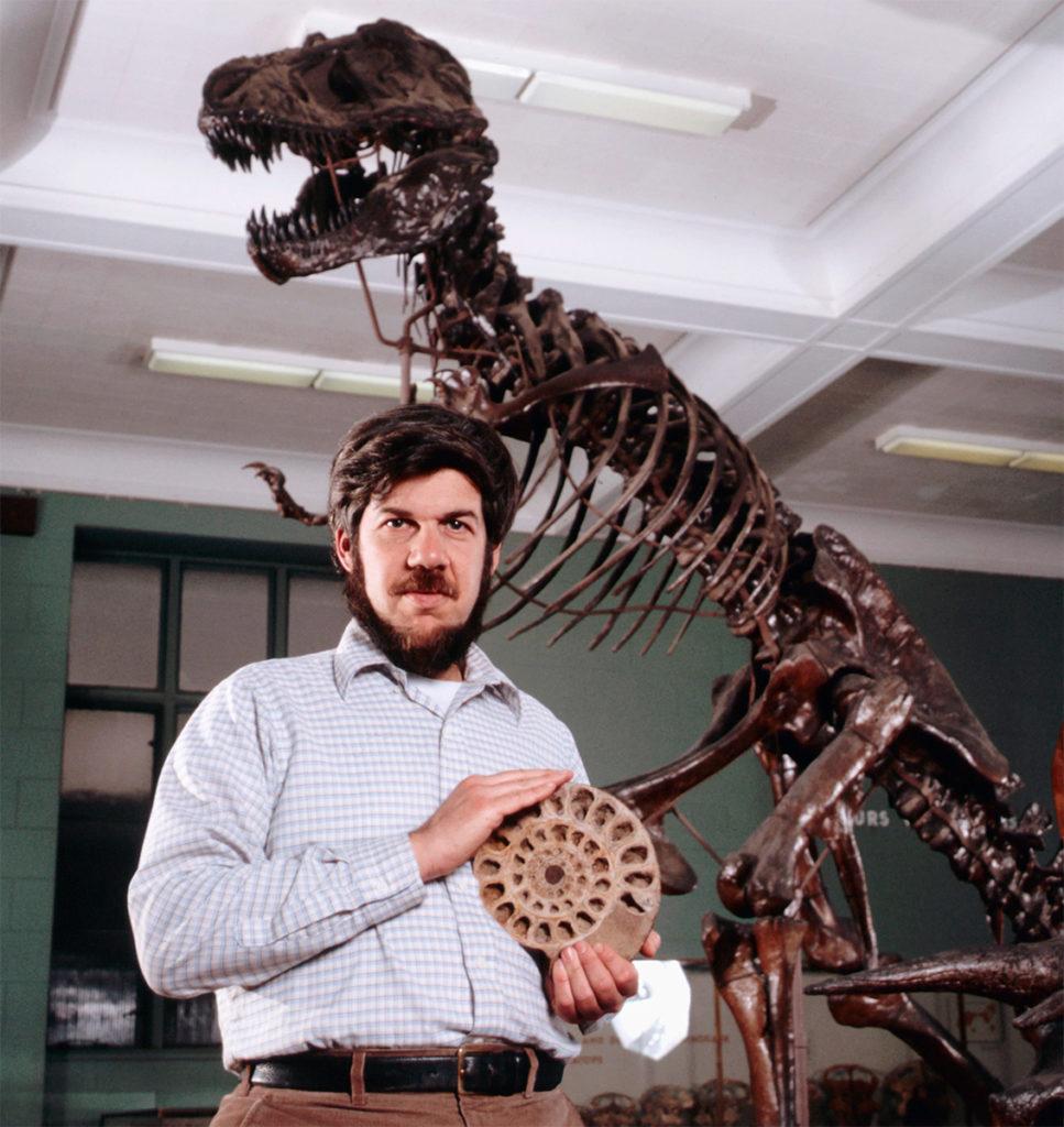 Gould com fóssil