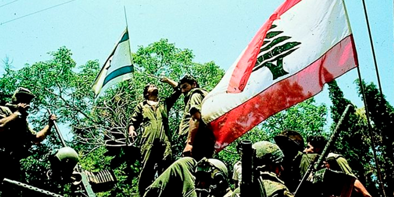 Israelenses com milicianos do Kataeb