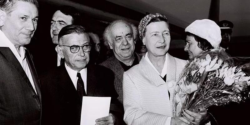Sartre e Beauvoir em Israel