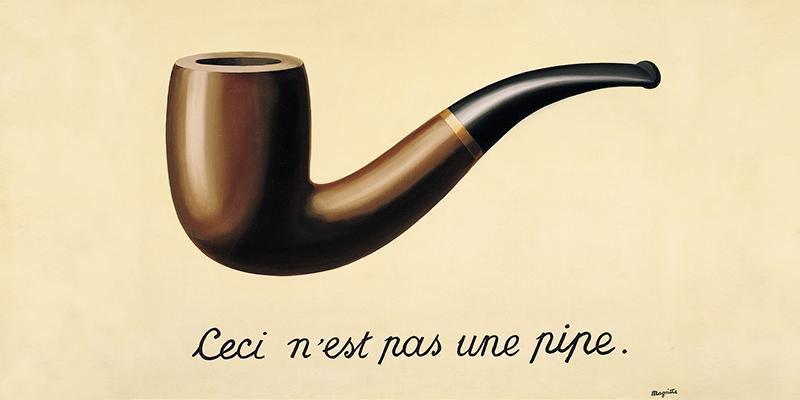 Ceci nest pas une pipe, de Magritte