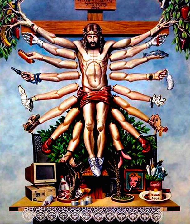 Cruzando Jesus Cristo com Deusa Schiva, de Fernando Baril