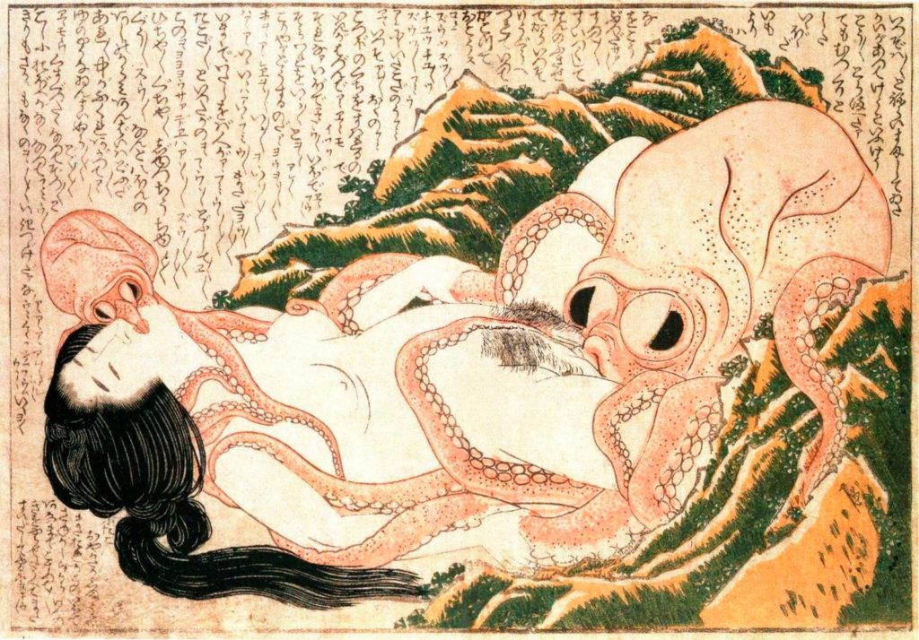Tako to ama, de Hokusai