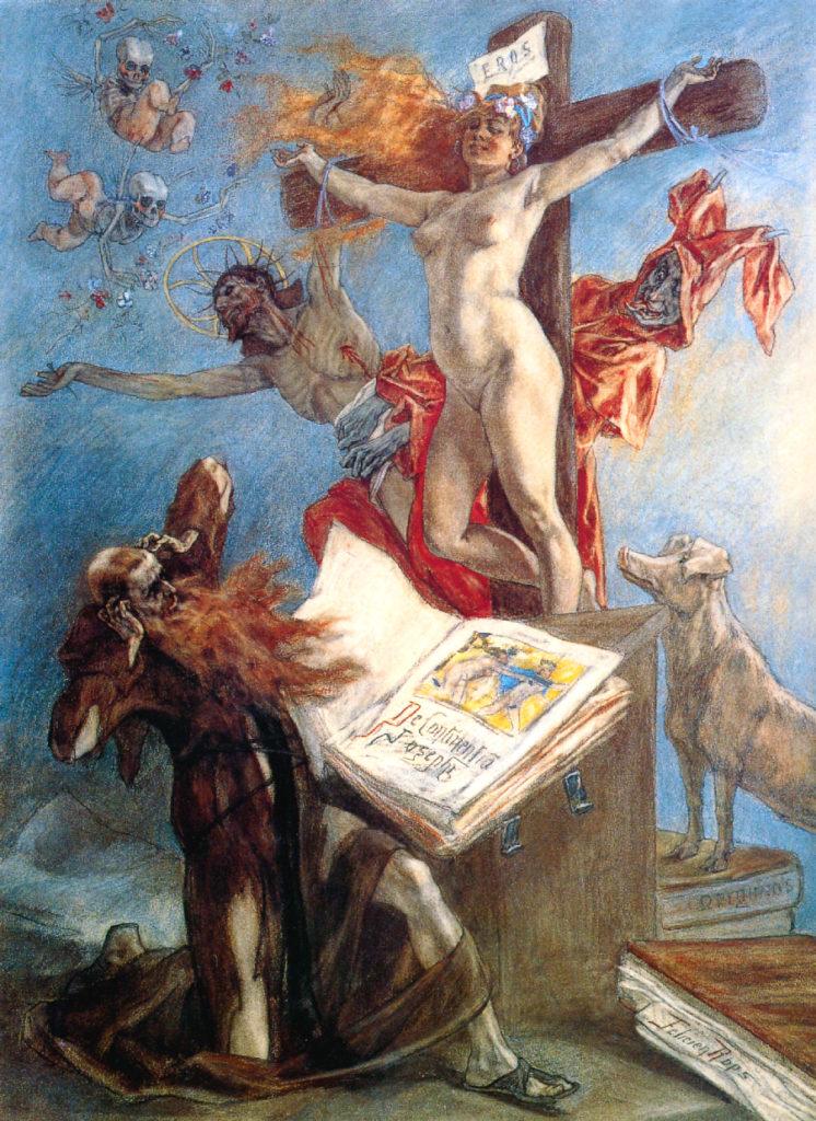 Tentação de Santo Antonio, de Felicien Rops