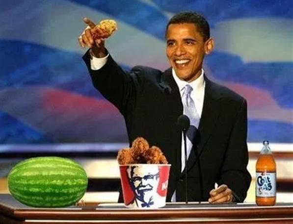 Obama, watermelon and chicken