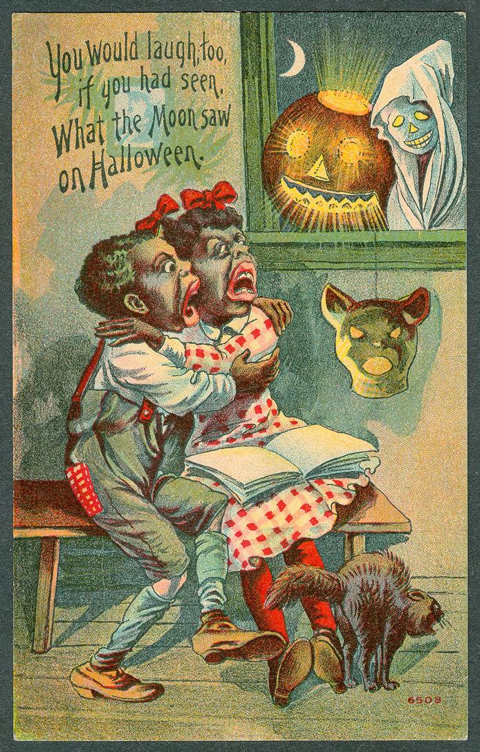 Halloween Postcard Pickaninnies