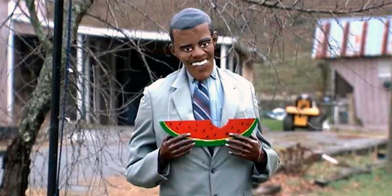 Obama comendo melancia