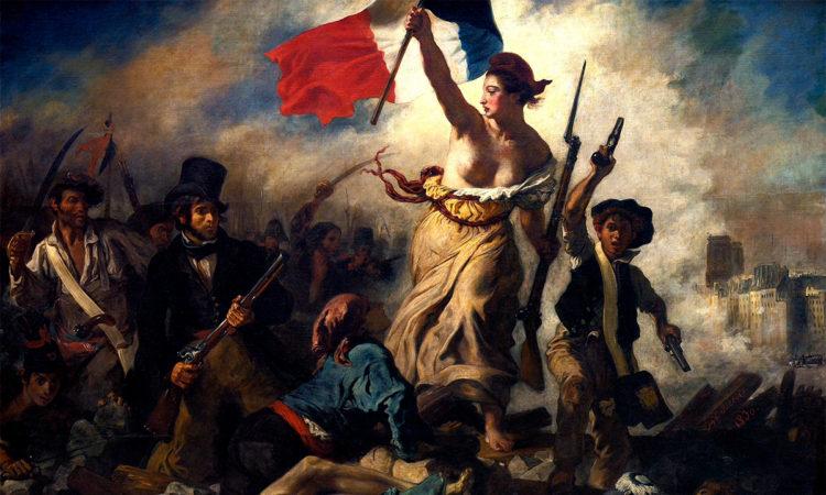 A Liberdade Guiando o Povo, de Eugène Delacroix