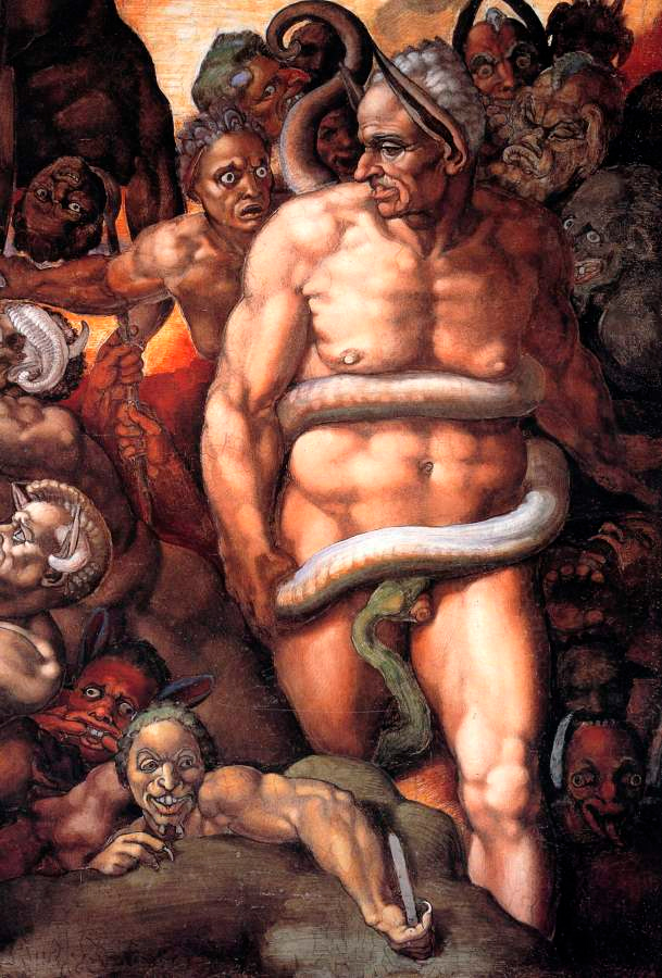 Biagio como Minos, de Michelangelo