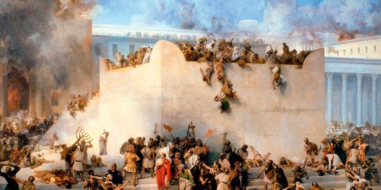 Destruição do Templo de Jerusalém por Tito, de Francesco Hayez