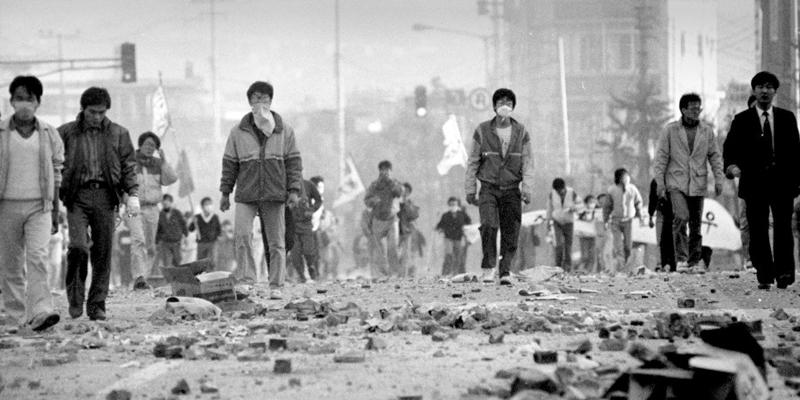 Protestos Coréia do Sul anos 80