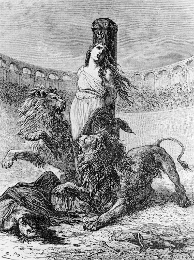 Sainte-Blandine livrée aux bêtes